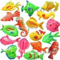 Gran tamaño a granel de doble Color de doble cara de pescado estéreo niños juguetes magnéticos de agua de pesca|  -