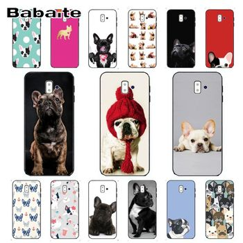 french bulldog dog TPU Soft Silicone Phone Case Cover For samsung Galaxy j6 plus A6 A8 A9 A10 A30 A50 Mobile Cover image