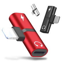 Audio Adapter For iPhone X Adaptador Charging USB 7 Plus Charger Lighting Earphone Splitter
