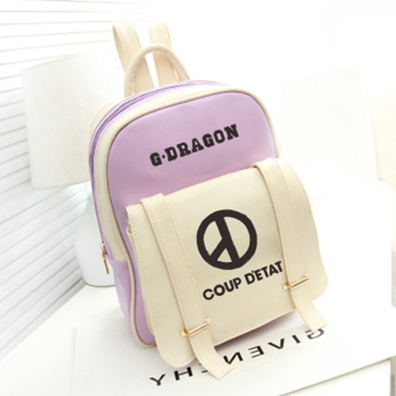 KPOP 4 Colors Bag Bigbang G-Dragon COUP DETAT Personal Album Kwon Ji Young Concert Support Big Capacity Travel Bag