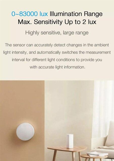 Original xiaomi Mijia Smart Light Sensor Zigbee 3.0 Light Detection Intelligent Linkage Waterproof work With Multimode Gateway 5