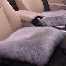 Cushion Chair-Pad Sheepskin-Cover Car-Mat Warm Soft Long-Wool Winter