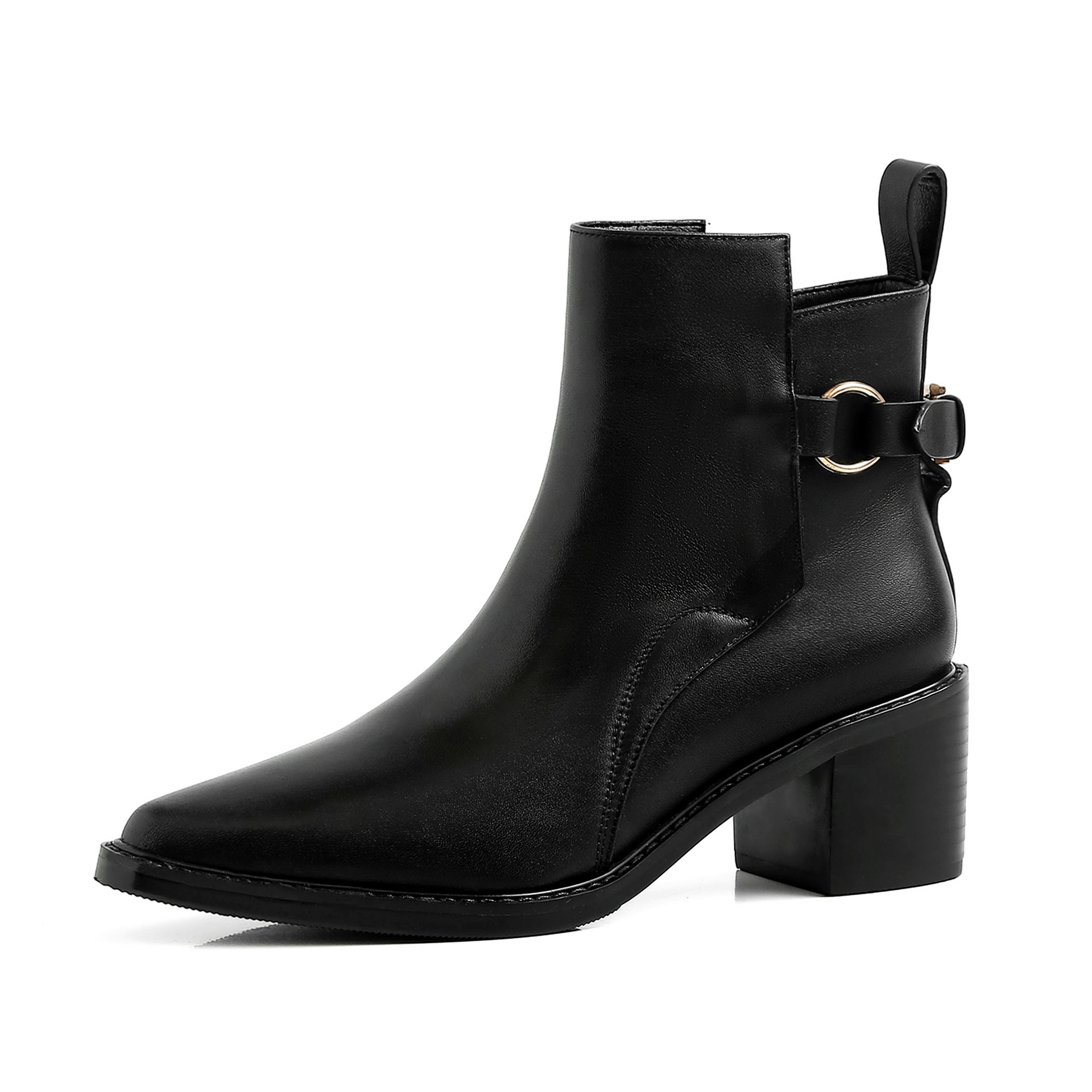 6CM High Low Heel Ankle Boots For Woman Vintage Boots For Ladies Botte Plate Femme Botas Mujer Marrones Shoe Bootie Woman