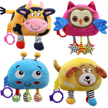Toys Baby Cloth Book-Toy 3d-Doll Fabric Learning Animal-Style Educational Infant Kids