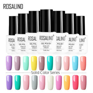 ROSALIND Nail Gel Polish All For Manicure Semi Permanent Vernis Top Coat UV LED Gel Varnish Soak Off Nail Art Gel Nail Polish