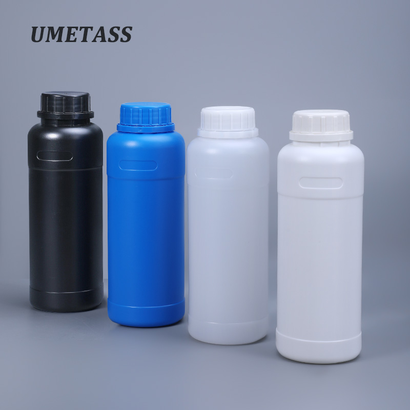 UMETASS 5PCS/lot Empty 500ML Plastic Bottles With Tamper Evident Lids Shampoo Lotion Alcohol Container Food Grade