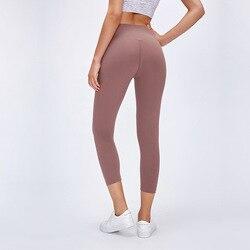 Antibom, женские спортивные Леггинсы для фитнеса, укороченные Тонкие штаны для йоги, Капри, колготки для бега, эластичные, для тренировок, для сп...