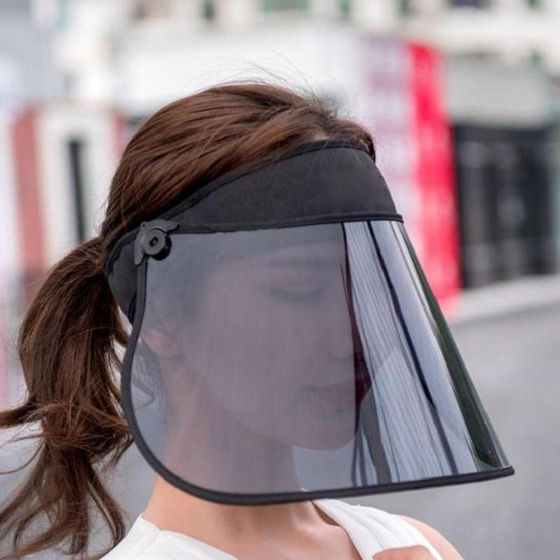 1 шт., регулируемые шляпы, женские прозрачные кепки с солнцезащитным козырьком, покрытие с УФ-защитой, гибкая летняя шляпа, большие размеры, Л...