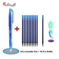 1+10/PCS Erasable Pens For Choose Kawaii Erasable Pen Magic Gel Pen Set School Office Writing Supplies Student Stationery Pens