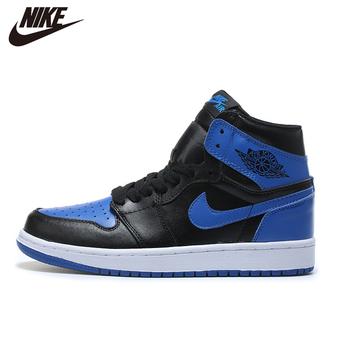 Oryginalny NIke Air Jordan 1 męskie obuwie do koszykówki malina błyskawica szafirowy niebieski Mid wyróżniony Mans wygodne CA3011-0256 tanie i dobre opinie VN (pochodzenie) Buty do koszykówki Średnie (b m) Średni podkrój RUBBER Syntetyczny Formotion Lace-up Fall2017 Pasuje prawda na wymiar weź swój normalny rozmiar