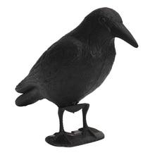 Черный пластик ворона Охота садовая приманка двор птица отпугивать страшное чучело мыши Компьютерные борьба с вредителями сдерживания Отпугиватель водонепрони