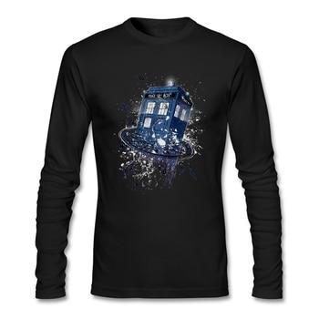 Top Design di Rottura Il Tempo Medico Che T-Shirt Uomo a Maniche Lunghe 100% Cotone O Collo Magliette E Camicette per Luomo