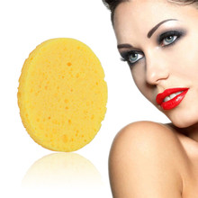 1 pcs Cleansing Sponge Compress Puff Natural Wood Pulp Cellulose Facial Makeup Accessorices Remover cotton