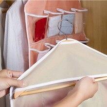16Pockets Clear Hanging Bag Socks Bra Underwear Rack Hanger Storage OrganizerClothes Baby Toy Moistureproof Quilt Travel Bags