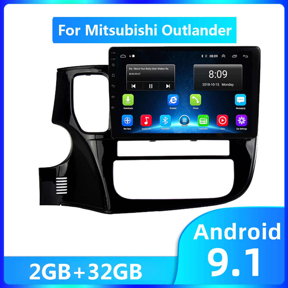 10 Inch Android 9.1 2 Din Auto Radio Multimedia Video Player Gps Navi Voor Mitsubishi Outlander 2016 2017 2G + 32G Autoradio Wifi Bt