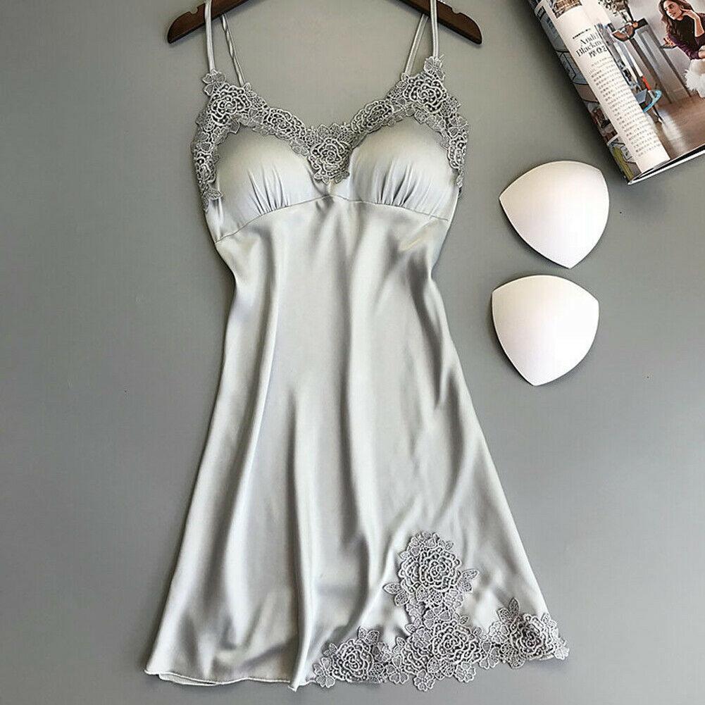Женское сексуальное кружевное шелковое белье без рукавов, ночное белье, летнее платье, ночная сорочка, 2020, горячая распродажа