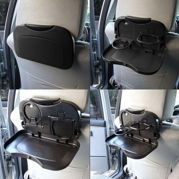 1Pc Folding Universal Car Bracket for Food Tray Drink Holder Auto Back Rear Seat Table Tray Phone Holder Car Storage Box image