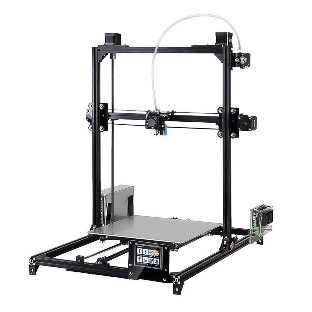 C-Plus автоматический уровень 3d принтер комплект Большая площадь печати 300*300*420 мм двойной экструдер сенсорный экран рукоделие принт машина