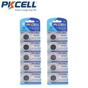 Image 1 - 10 X Pkcell CR1620 3V Lithium Batterij BR1620 DL1620 ECR1620 Cr 1620 Knoopcel Batterijen