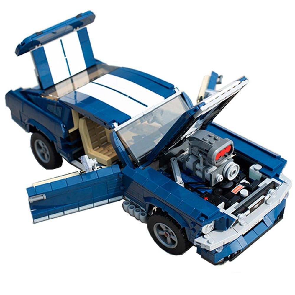 Oyuncaklar ve Hobi Ürünleri'ten Bloklar'de Legoing Teknik Blokları 1343 pcs mustang Merceding Benzs oyuncak araba Legoing Creator 21047 10262 Tuğla oyuncaklar Hediyeler için Çocuk'da  Grup 2