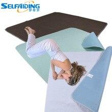 Впитывающая Водонепроницаемая моющаяся Подушечка для кровати с защитой от недержания, многоразовые подушечки для кровати UBP-101