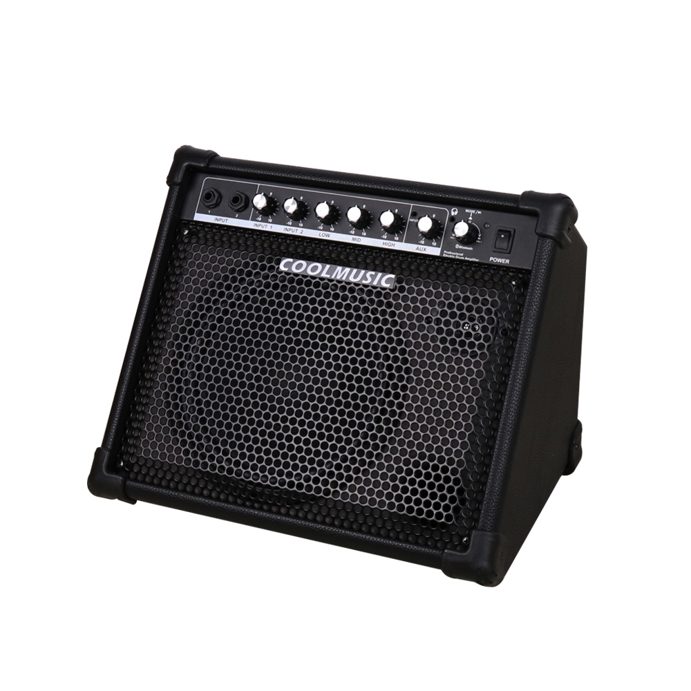 COOLMUSIC 30W Bluetooth Portable Drum Amplifier