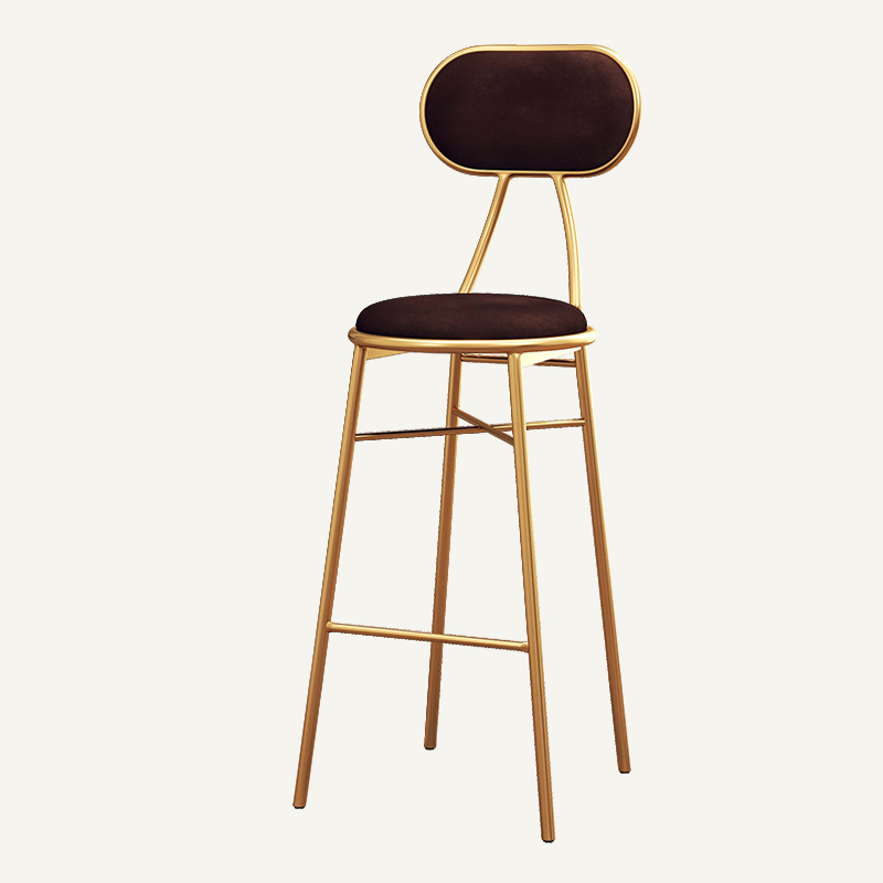 Nordic Light Luxury Bar Chair Simple Net Red Bar Chair Front Desk Restaurant Lounge Chair Back High Stool Bar Chair Home