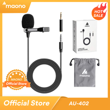 MAONO Lavalier Microphone Smart Clip on Omnidirectional Condenser Lapel Mic Handsfree Interview Vocal Video Mic
