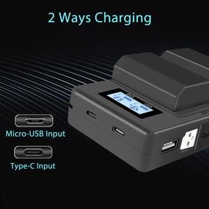 Image 3 - Palo NP FZ100 NP FZ100 LCD Dual USB Caricabatteria per Sony NP FZ100, BC QZ1 Alpha 9, A9, alpha 9R, Sony A9R Sony Alpha 9S