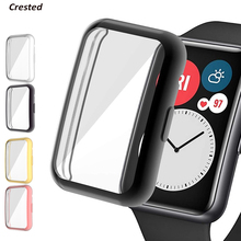 Screen-Protector Smartwatch-Accessories Huawei Watch Bumper Fit-Case for TPU All-Around