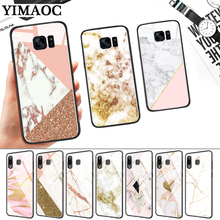 Granite Gold Marble Texture Glass Case for Samsung S7 Edge S8 S9 S10 Plus S10E Note 8 9 10 A10 A30 A40 A50 A60 A70