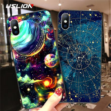 USLION Space Moon Star Phone Case For iPhone 11 X XR Xs Max 11 Pro Soft TPU Planet Starry Back Cover For iPhone 6 6s 7 8 Plus SE(China)