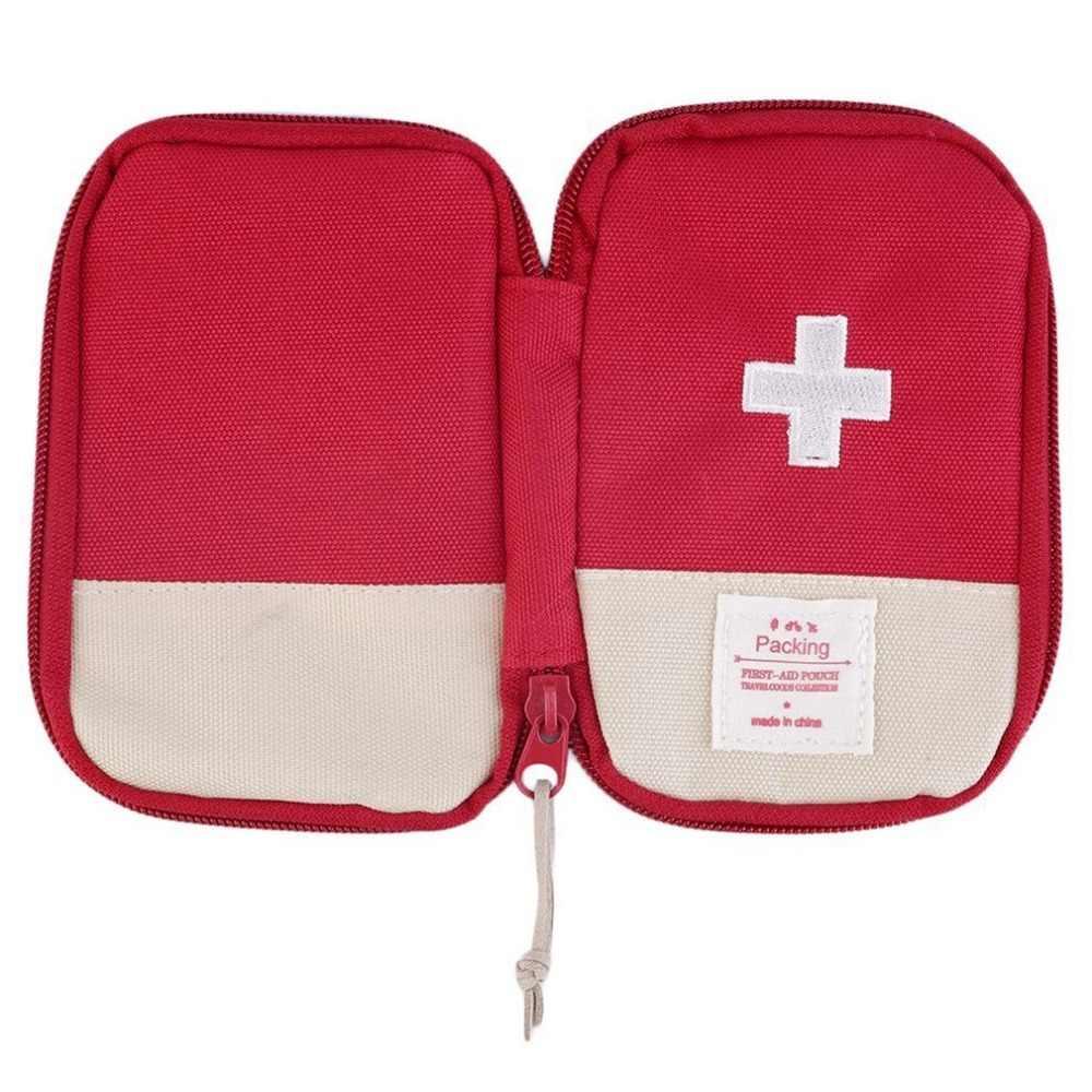 Mini Ehbo-kit Lege Zak Thuis Nood Survival Pouch Draagbare Drugs Veiligheid Zak Kleine Geneeskunde Divider Organizer