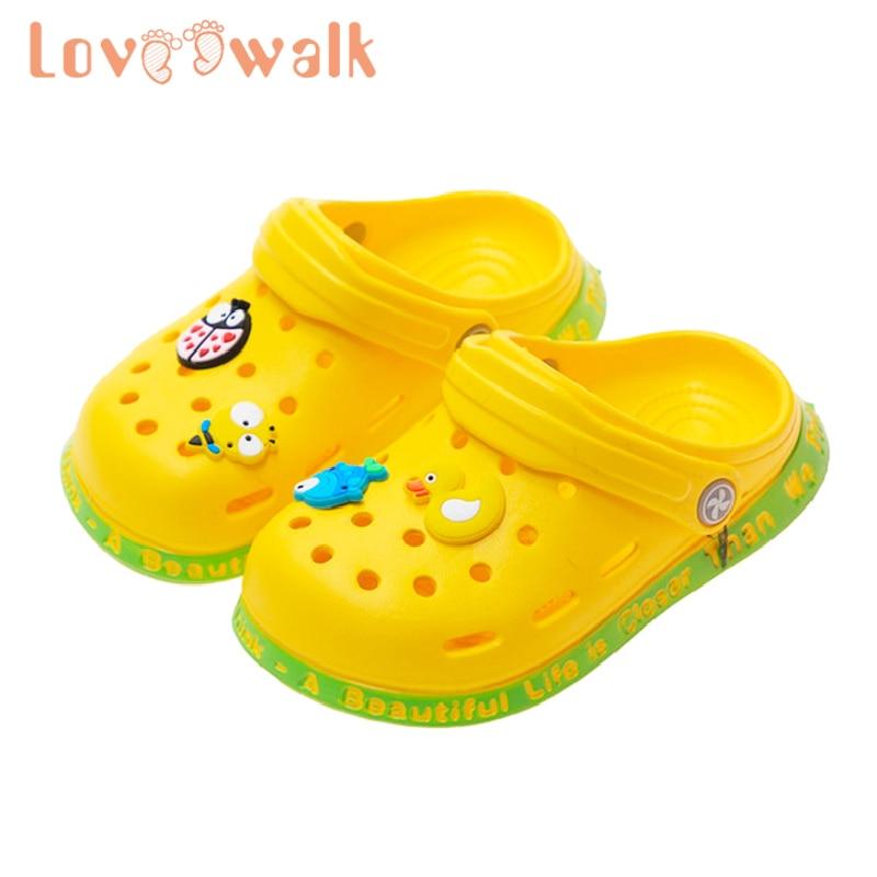 Loveewalk Baby Children Croc Shoes Summer Cartoon Beach Swimming Shoes for Boys Girls Soft Non Slip Indoor Toddler Kids Slippers
