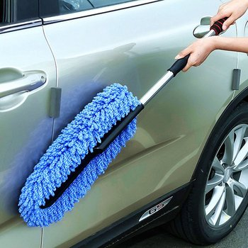 Retractable Car Cleaning Brush Mop Car Dust Collector Multifunctional Car Washing Brush Microfiber Dust Mop