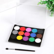15 Colors Body Face Paint Pigment Water Soluble Festival Party Painting Play Clown Halloween Makeup Set