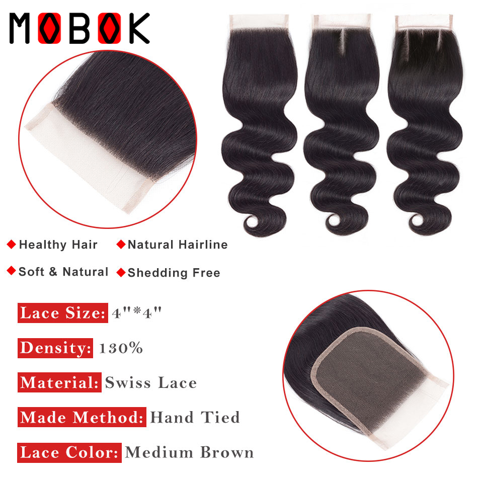 MOBOK-Hair-1-Piece-Malaysian-Body-Wave-Closure-Non-Remy-Hair-Lace-Closures-4-x4-Swiss (1)
