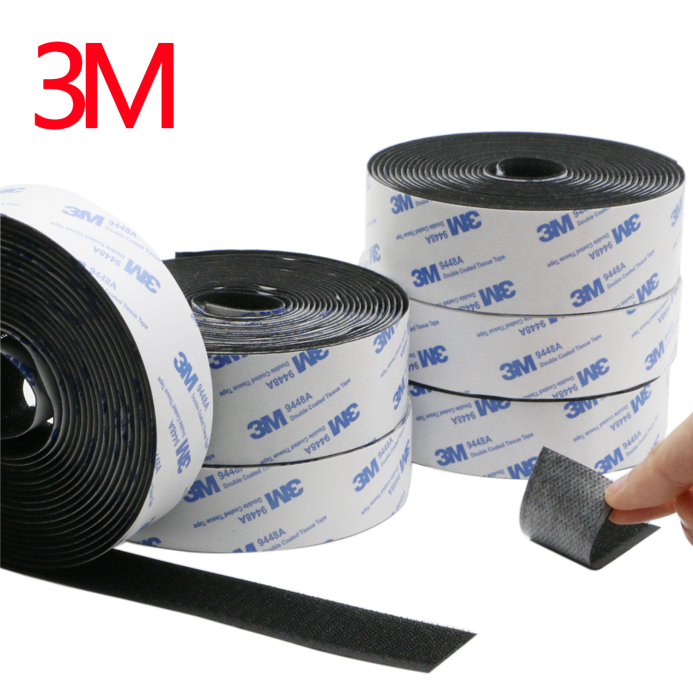 1Meter/Pairs Strong Self Adhesive Hook and Loop Fastener Tape Nylon Sticker Velcros Adhesive with Glue for DIY 20/25/30/38/50mm