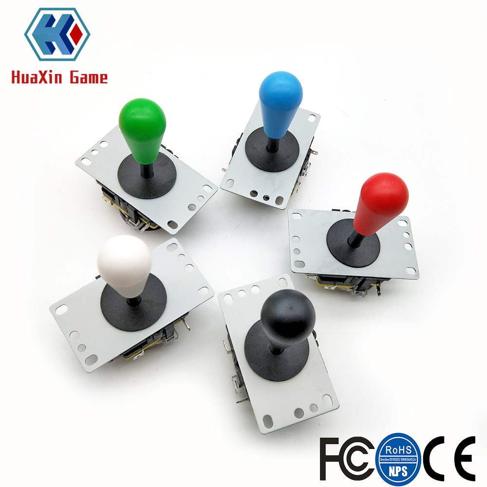 2 PCS Copy Sanwa 8Way Joystick With Micro Switch For DIY Arcade Game Machine High Quality Multi Color Red Green Blue White Black