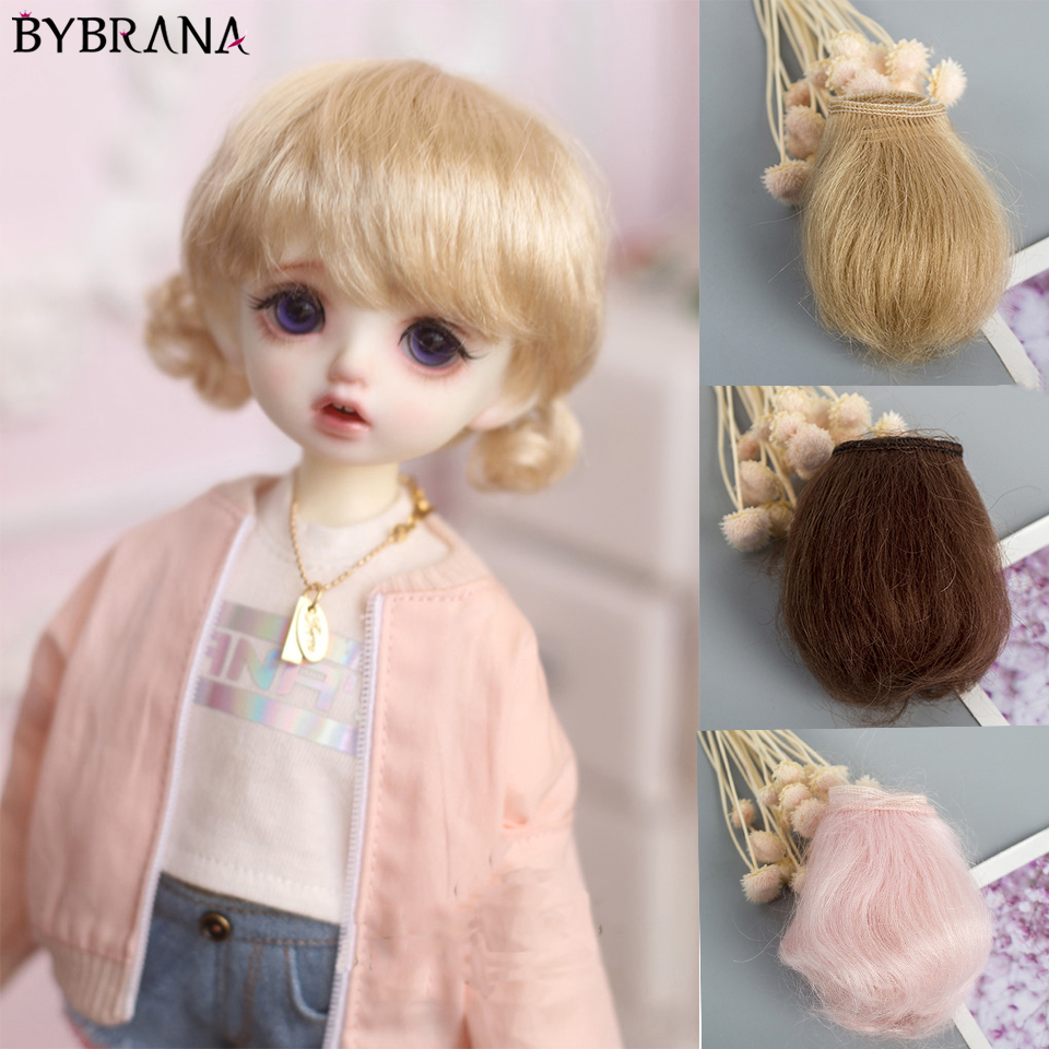 Bybrana New Bjd Mohair Wig Row 5cm Multi-color Optional Sd Doll Beauty Pig Ob11 DIY Handmade Material Wig