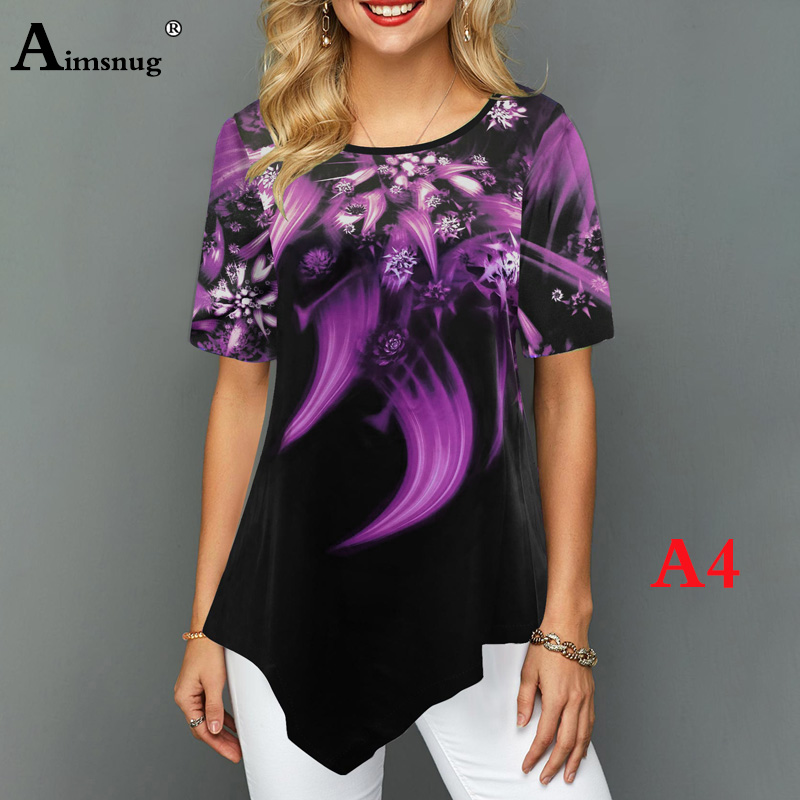 Hd8e8b4f932d748adbdb879d5c24b6e7aY - Plus size 4xl 5xl Women Fashion Print Tops Round Neck Short Sleeve Boho Tee shirts New Summer Female Casual Loose T-shirt