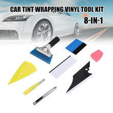 Window Tint Application Tool Set of 8 Auto Vinyl Wrap Squeegee with Zippy Film Cutter Scraper Car Glass Application Kit JDH88