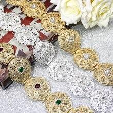 SUNSPICE MS 골드 실버 컬러 라운드 동전 여성 허리 체인 벨트 모로코 Caftan 벨트 인도 보석 민족 결혼식 Bijoux