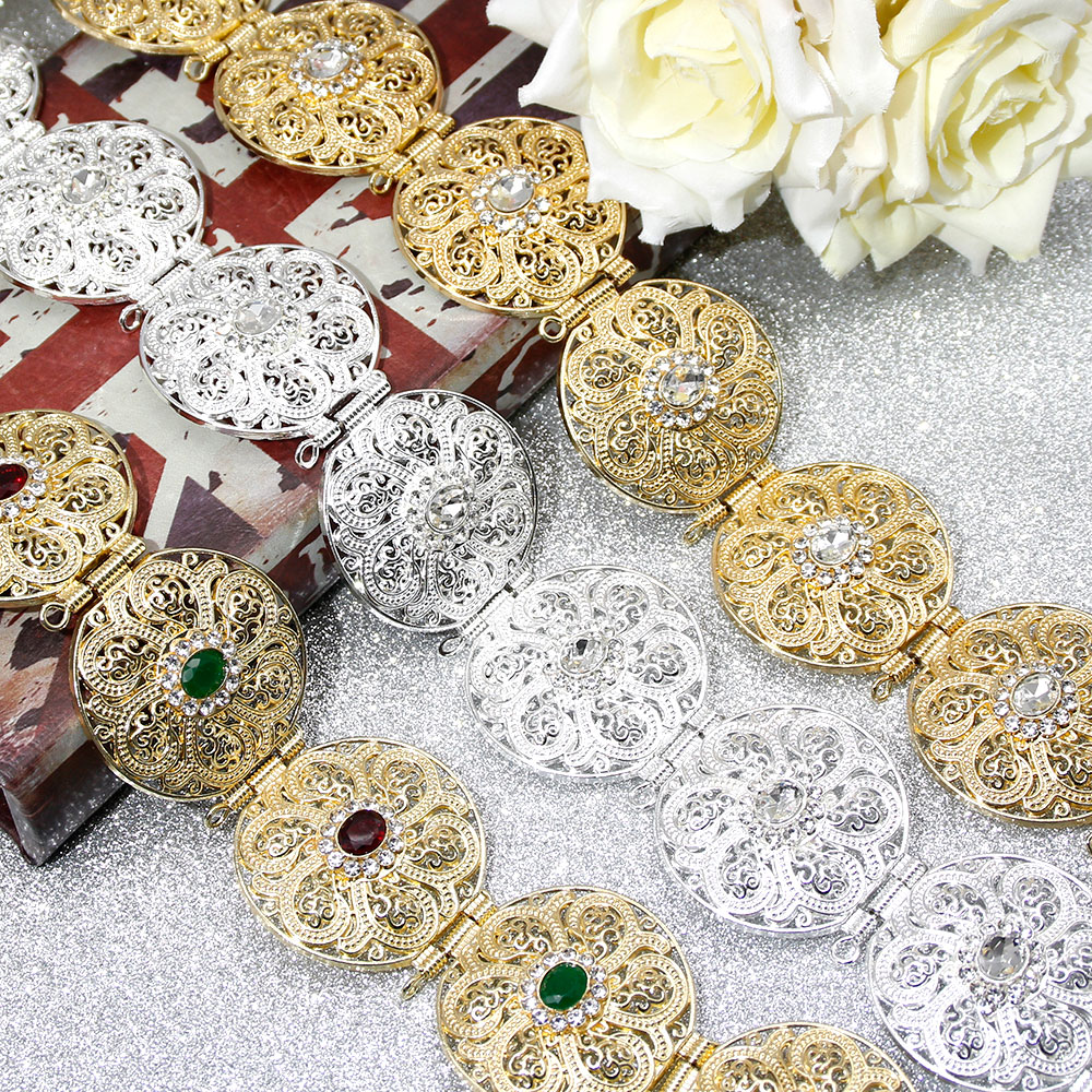 SUNSPICE-MS Gold Silver Color Round Coin Women Waist Chain Belt Morocco Caftan Belt Indian Jewelry Ethnic Wedding Bijoux