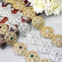 SUNSPICE MS złoty kolor srebrny okrągły moneta kobiety talia łańcuszek do spodni maroko kaftan Belt indyjska biżuteria etniczna ślub Bijoux