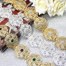 SUNSPICE MSゴールドシルバー色ラウンドコイン女性ウエストチェーンベルトモロッコカフタンベルトインディアンジュエリーエスニック結婚式ビジュー