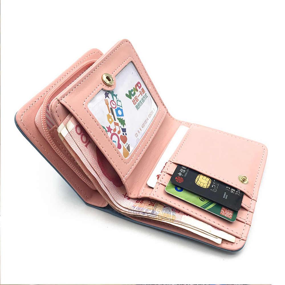Женский милый кошелек с кошкой, маленький кошелек на молнии для девочек, брендовый дизайнерский женский кошелек Ptgirl, Женский кошелек для монет, Женский держатель для карт, кошелек для девочек, billetera