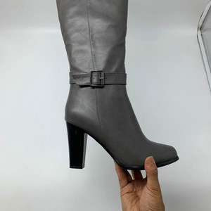 Image 4 - 2020 fashion high heels women knee high boots pu leather office ladies dress shoes spring autumn boots woman big size 34 43