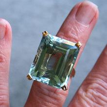 Naturalne morskie niebieski Topaz kamień pierścionek z szafirem zaręczynowy 14K żółte złoto Anillos dla kobiet biżuteria Bizuteria z kryształowym kamieniem