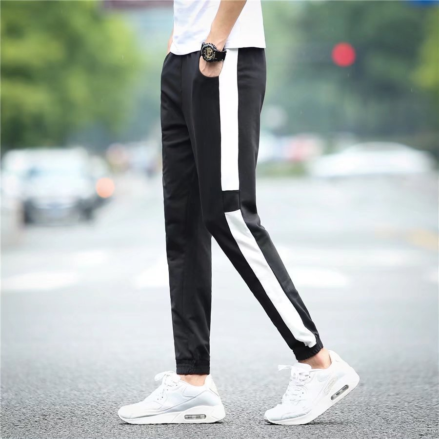 2017 Autumn Korean-style MEN'S Casual Pants Men's Slim Fit Trend Beam Leg Harem Pants Skinny Athletic Pants Long Pants